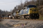 541 - CSXT 9000 leads Q13501 past the transformer yard.